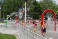 Children Enjoy Water Features